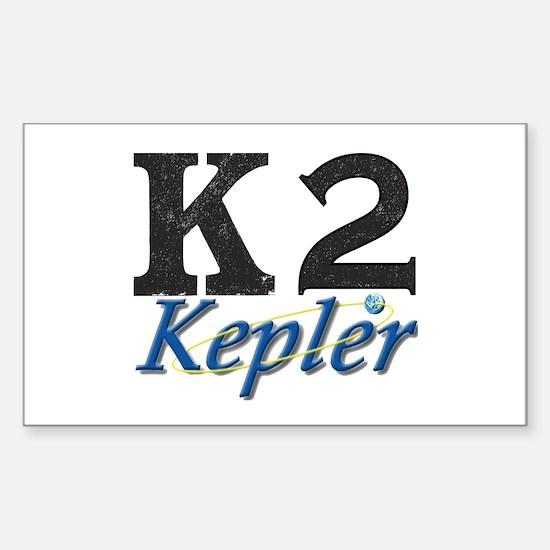 Kepler K2 Mission Logo Sticker (Rectangle)