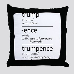 Trumpence Definition Throw Pillow