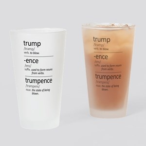 Trumpence Definition Drinking Glass