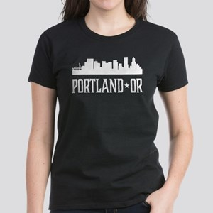 Portland, Oregon Skyline Women's Dark T-Shirt