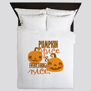 Pumpkin Spice Queen Duvet