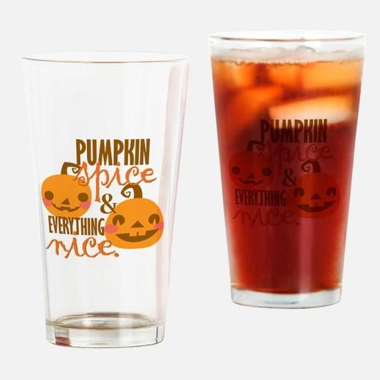 Pumpkin Spice Drinking Glass