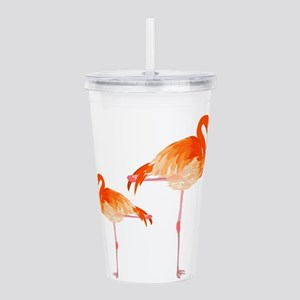 FLAMINGOS Acrylic Double-wall Tumbler