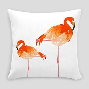 FLAMINGOS Everyday Pillow