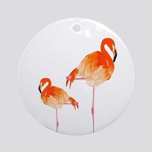 FLAMINGOS Round Ornament