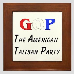 GOP American Taliban Framed Tile