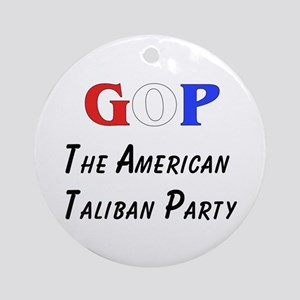 GOP American Taliban Ornament (Round)