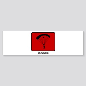 Skydiving (red) Bumper Sticker