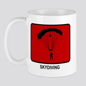 Skydiving (red) Mug