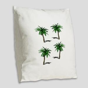 PALMS Burlap Throw Pillow