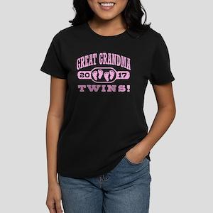 Great Grandma 2017 Twins Women's Dark T-Shirt