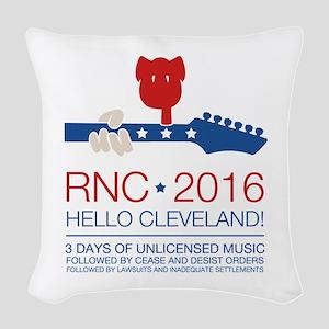 rnc convention Woven Throw Pillow