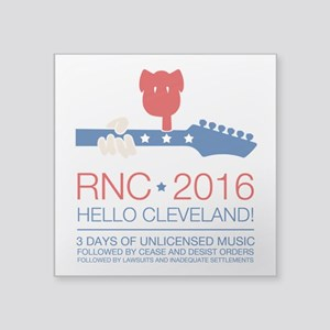 "rnc convention Square Sticker 3"" x 3"""