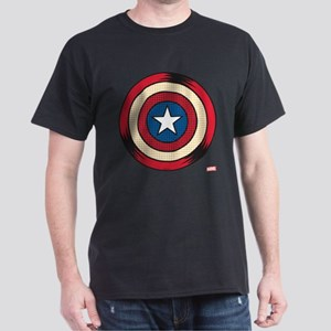 Captain America Comic Shield Dark T-Shirt