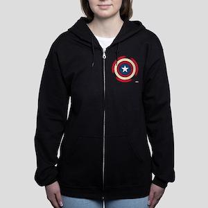 Captain America Comic Shield Women's Zip Hoodie