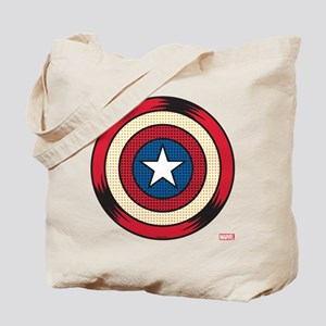 Captain America Comic Shield Tote Bag