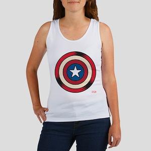 Captain America Comic Shield Women's Tank Top