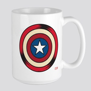 Captain America Comic Shield Large Mug