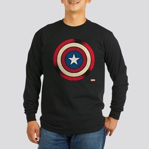 Captain America Comic Shi Long Sleeve Dark T-Shirt