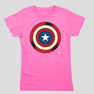 Captain America Comic Shield Girl's Tee