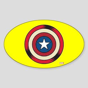 Captain America Comic Shield Sticker (Oval)