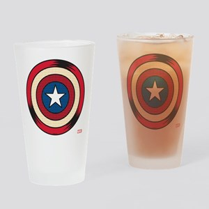 Captain America Comic Shield Drinking Glass