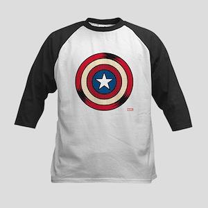 Captain America Comic Shield Kids Baseball Jersey