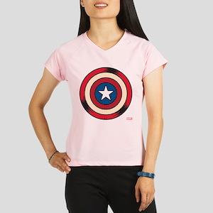 Captain America Comic Shie Performance Dry T-Shirt