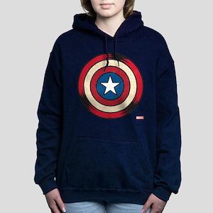 Captain America Comic Sh Women's Hooded Sweatshirt