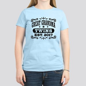 Great Grandma Twins Est. 201 Women's Light T-Shirt