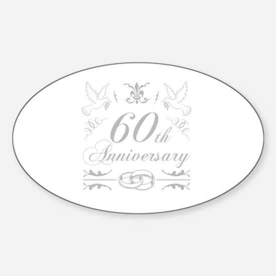 Cute Unique 60 years old Sticker (Oval)