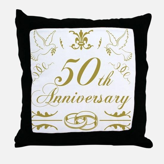 Funny 50th wedding anniversary Throw Pillow