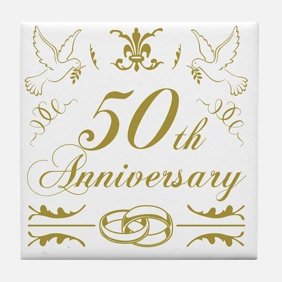 Unique Anniversary Tile Coaster