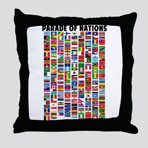 Parade of Nations Throw Pillow