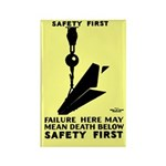 Safety First 1937 Rectangle Magnet (10 pack)