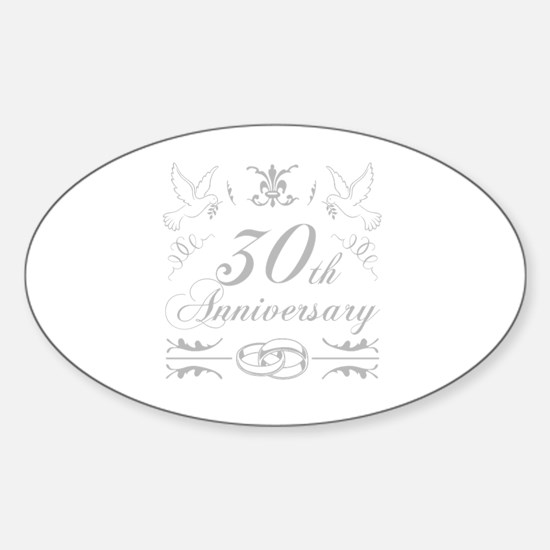 Cute 30 years together Sticker (Oval)