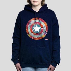 Captain America Tie-Dye Women's Hooded Sweatshirt