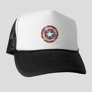 Captain America Tie-Dye Shield Trucker Hat