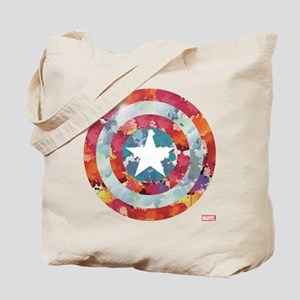 Captain America Tie-Dye Shield Tote Bag