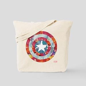 Captain America Tie-Dye Shield Tote Bag