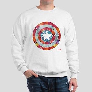 Captain America Tie-Dye Shield Sweatshirt