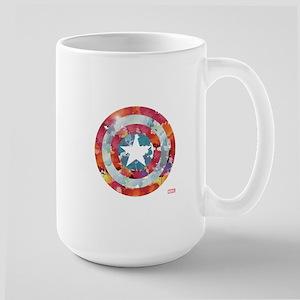 Captain America Tie-Dye Shield Large Mug