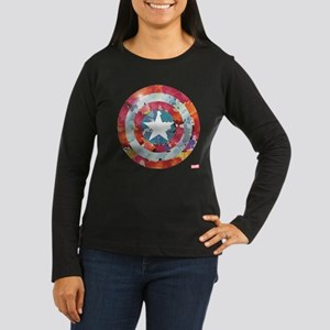 Captain America T Women's Long Sleeve Dark T-Shirt