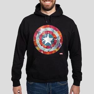 Captain America Tie-Dye Shield Hoodie (dark)