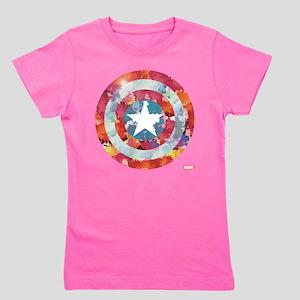 Captain America Tie-Dye Shield Girl's Tee