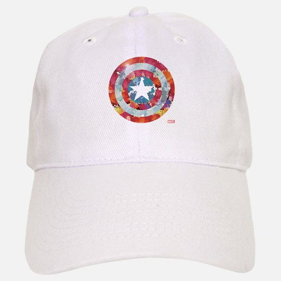 Captain America Tie-Dye Shield Baseball Baseball Cap