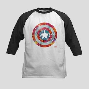 Captain America Tie-Dye Shiel Kids Baseball Jersey