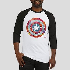 Captain America Tie-Dye Shield Baseball Jersey