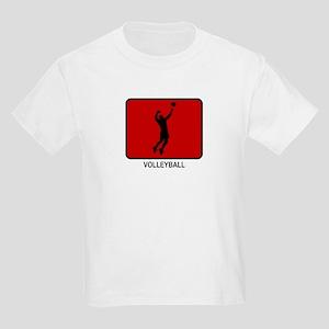 Mens Volleyball (red) Kids Light T-Shirt