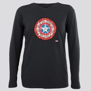 Captain America Shield B Plus Size Long Sleeve Tee